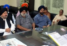 Deputy Commissioner Sushma Chauhan chairing a meeting with Sikh organisations on Thursday.