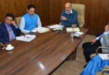 Chief Secretary BVR Subrahmanyam chairing a meeting at Jammu.