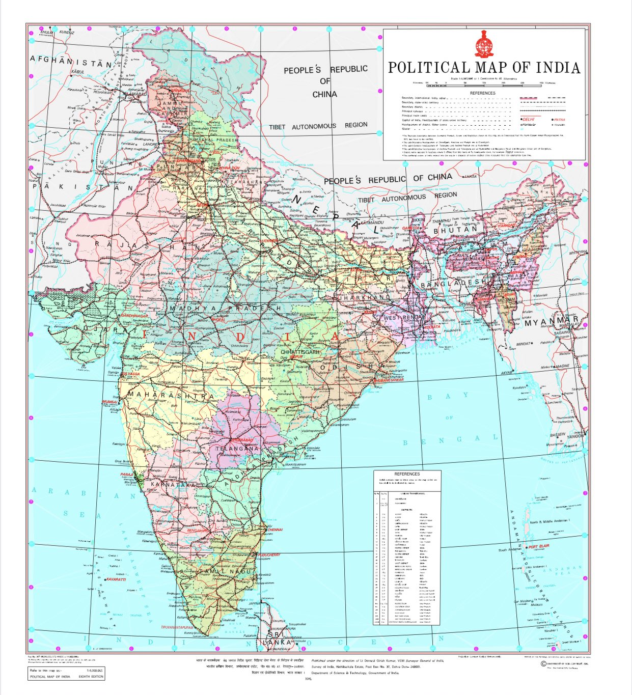 Govt releases new political map of India after J&K, Ladakh ... on india river map, india education map, eurasia europe map, india outline map, india map legend, geography of india geographical map, india wall map, colombo india map, india population density map, india fiscal map, india world map, 2014 india map, india capital map, india city map, ancient india map, india domestic map, british colonial india map, india climate map, india resource map, india topographic map,