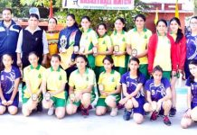 Participating players and dignitaries posing for group photograph.