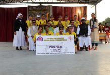 Winners of Kho-Kho tournament organised by Diocese of Jammu Srinagar Education Society posing for a group photograph in Jammu.