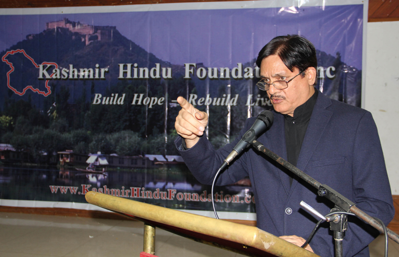Founder KHF addressing an interactive session at Jammu on Thursday.
