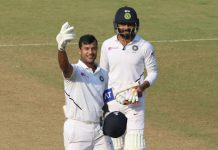 Mayank Agarwal got the memo. 'Go for the triple'