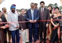 Fun Mela being inaugurated by Prof Ravinder Kumar Sinha, VC SMVDU on Thursday.