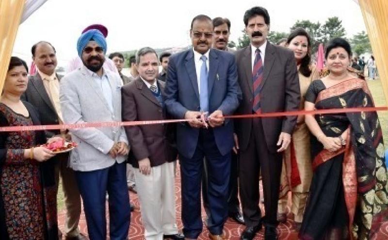 Fun Mela being inaugurated by Prof Ravinder Kumar Sinha, VC SMVDU on Thursday.