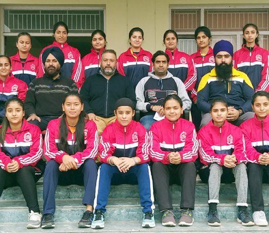 JU Women Hockey team before leaving for NZ Inter-University Hockey Tournament.