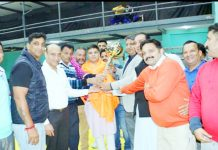 Chief guest Ravinder Raina inaugurating Wrestling Championship in Jammu.