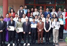 Delegates of Jodhamal School posing for a photograph after shining in MUN Conferences.