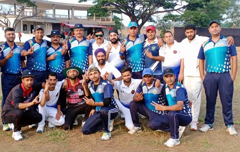 JU Employees team posing for a group photograph after beating Mumbai University on Tuesday.