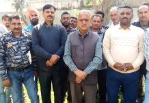 NMC activists during a meeting at Jammu on Tuesday.