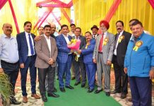JKGBRWA representatives presenting a bouquet to Chairman JK Bank, R K Chhibber during a function at Jammu on Tuesday.