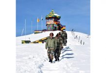 Lt Gen Ranbir Singh during visit to LoC in North Kashmir on Tuesday.