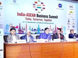 Union Minister Dr Jitendra Singh addressing the inaugural session of the two-day India-ASEAN Business Summit, at New Delhi on Monday.