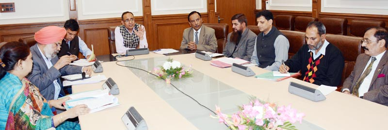 Principal Secretary CAD, Rohit Kansal chairing a meeting on Friday.
