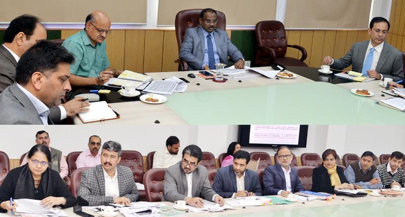 Lieutenant Governor Girish Chandra Murmu chairing a meeting on Wednesday.