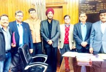 CII members during a meeting with Dr Arun Kumar Mehta, Financial Commissioner at Jammu on Monday.