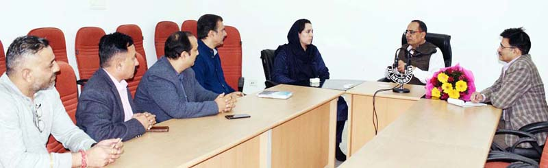 Principal Secretary Planning Rohit Kansal chairing a meeting on Friday.