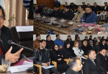 Chief Justice J&K High Court Justice Gita Mittal speaking at post-plantation drive programme at Srinagar.
