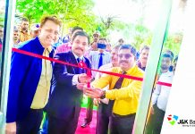 DC Udhampur inaugurating Easy Banking Unit of J&K Bank at Udhampur.