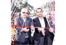 Zonal Head Jammu (Central II) J&K Bank Sudhir Gupta inaugurating ATM at Billawar in District Kathua.