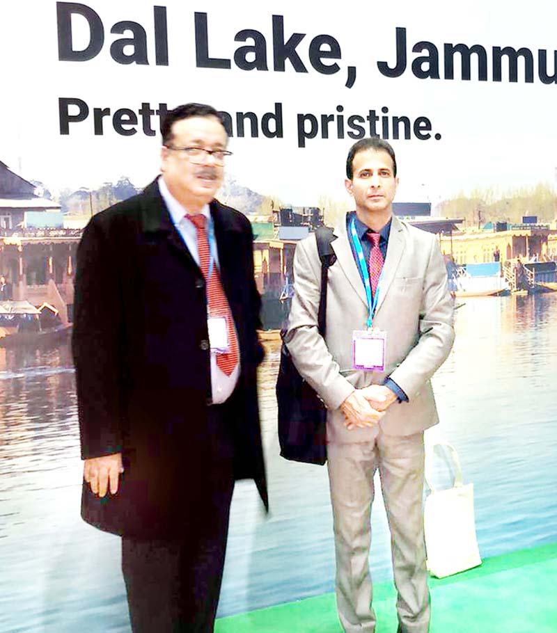 Principal Secretary Tourism Navin Choudhary at World Travel Mart in London.
