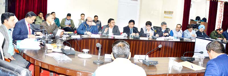 Divisional Commissioner Sanjeev Verma chairing a meeting at Doda on Wednesday.