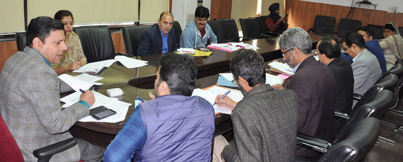 Divisional Commissioner Sanjeev Verma chairing a meeting in Jammu on Thursday.