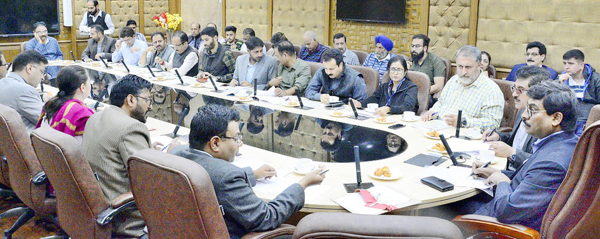 FC Finance Arun K Mehta chairing a meeting on Friday.