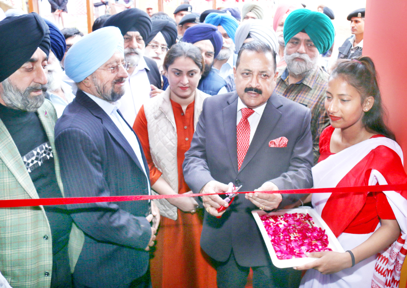 Union Minister Dr. Jitendra Singh inaugurating Multimedia Exhibition at Jammu on Friday.