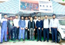 Officials of HMIL and Devika Hyundai posing during 'Experience Hyundai' camp.