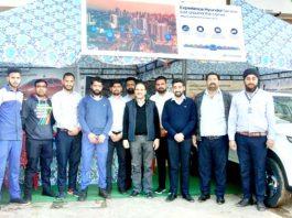 Officials of HMIL and Devika Hyundai posing during 'Experience Hyundai' camp.