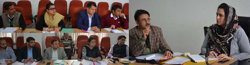 Director Information Dr Syed Asgar chairing a meeting on Thursday.