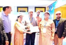Participants of ITM-J being felicitated at Jammu on Sunday.