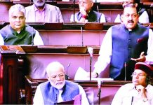 Union Minister Dr Jitendra Singh speaking in the Rajya Sabha on Thursday.