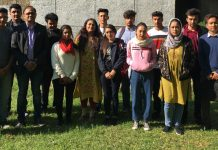 Ladakh students with DLL Director & Programme Coordinator during workshop on Wednesday.