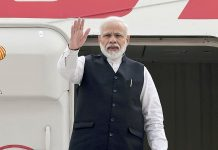 Prime Minister, Narendra Modi emplanes for Brazil to take part in BRICS Summit, in New Delhi on Tuesday.