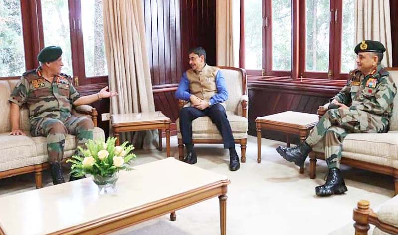 General Bipin Rawat with Nagaland Governor RN Ravi at Nagaland.