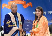 President Kovind addresses the 5th Convocation of Sikkim University, Gangtok on Sunday.