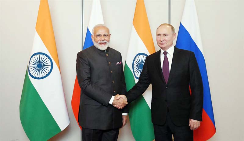 Prime Minister, Narendra Modi meeting the President of Russian Federation, Mr. Vladimir Putin, on the sidelines of BRICS Summit, in Brazil.