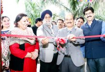 VC, JU, Prof Manoj Dhar inaugurating Teachers and Officers Club in JU premises on Thursday.