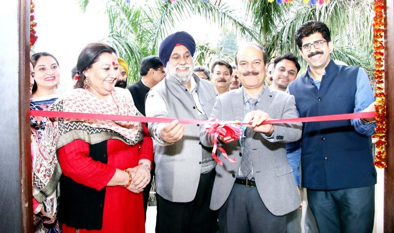 VC, JU, Prof Manoj Dhar inaugurating Teachers and Officers Club in JU premises on Thursday.