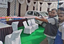 Anurag Kumar, Zonal Service Head of Hyundai inaugurating mega camp.