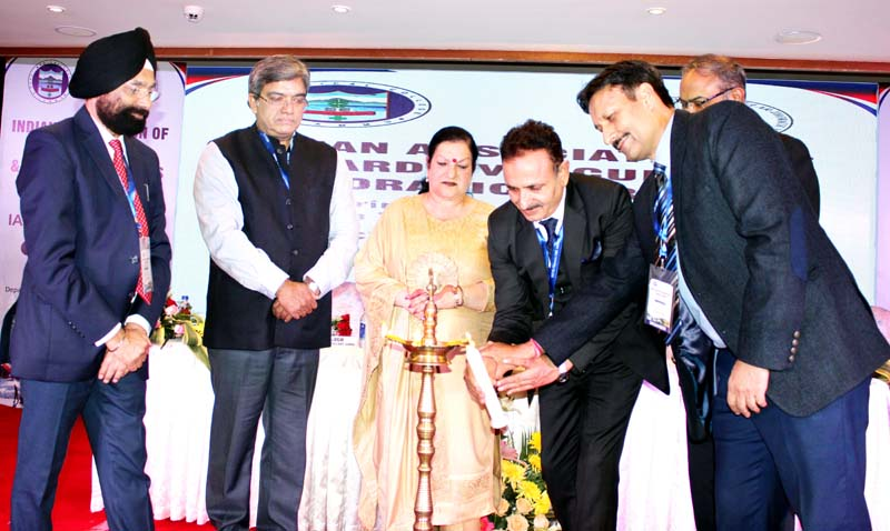 Principal GMC Jammu, Dr Sunanda Raina, inaugurating Thoracic Surgery Conference in Jammu. -Excelsior/Rakesh