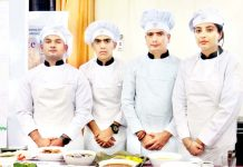 One of the participating team members during 'Ethnic Food Competition' at Jammu on Thursday.