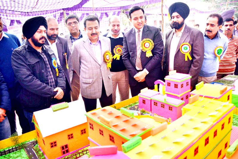 Director Technical Education and others inspecting project models during Technovation 2019 at Govt Polytechnic Jammu.