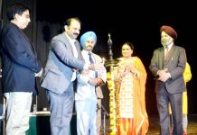 Dr KS Risam, VC SKUAST, Raman Suri, General Secretary Tourism Federation and others inaugurating 'Purvottar Dhara' at Jammu.