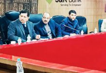 J&K Bank CMD chairing an interactive session with heads of business units.