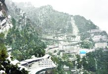 Fresh snowfall at Mata Vaishno Devi Ji shrine