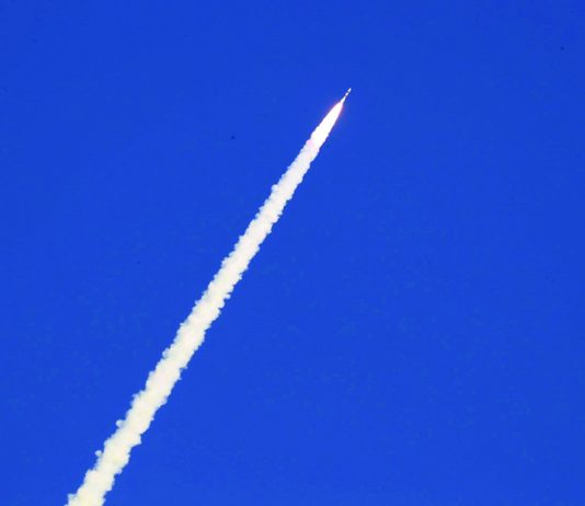 PSLV-C48/RISAT-2BR1 alongwith 9 customer satellites of Israel, Italy, Japan and USA lifts off successfully from Satish Dawan Space Centre in Sriharikota on Wednesday. (UNI)