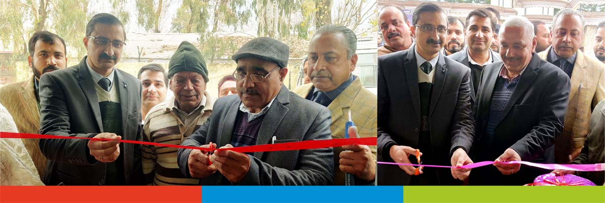 J&K Bank's Zonal Head, Jammu (West) Rajouri Ashutosh Sareen inaugurating ATMs in Surankote and Dungus in Poonch district.